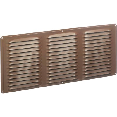 Air Vent 16 In. x 6 In. Brown Aluminum Under Eave Vent