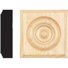 House of Fara 7/8 In. x 3-1/2 In. Unfinished Pine Rosette Image 1