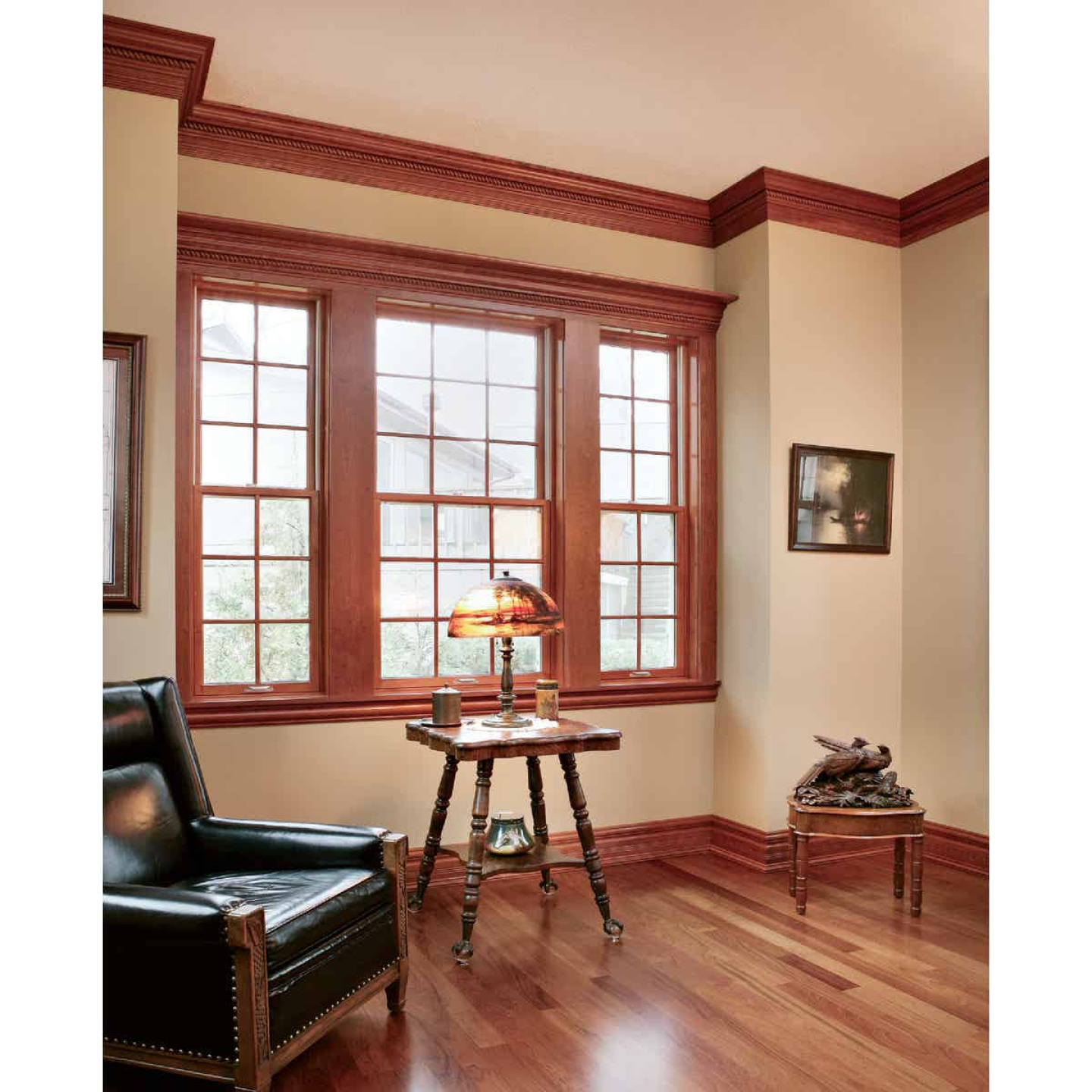 House of Fara 7/16 In. W. x 2-1/4 In. H. x 7 Ft. L. Natural Solid Oak Fluted Wood Casing Image 2