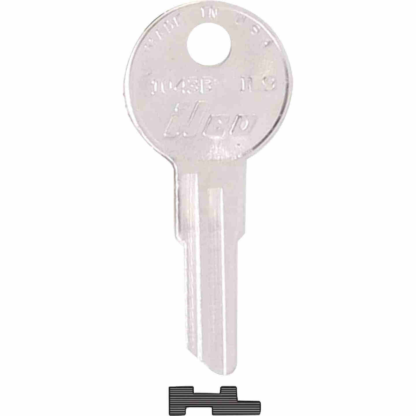 ILCO Illinois Nickel Plated File Cabinet Key, IL9 (10-Pack) Image 1