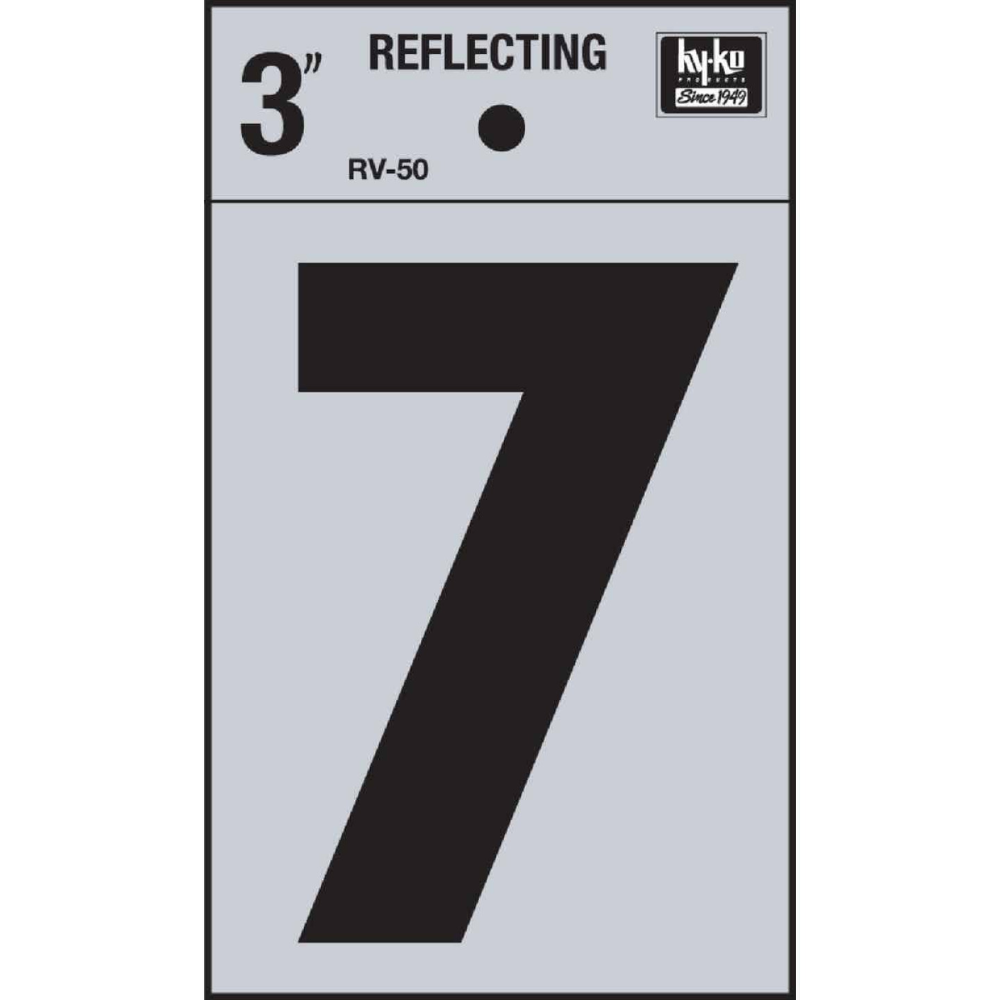 Hy-Ko Vinyl 3 In. Reflective Adhesive Number Seven Image 1