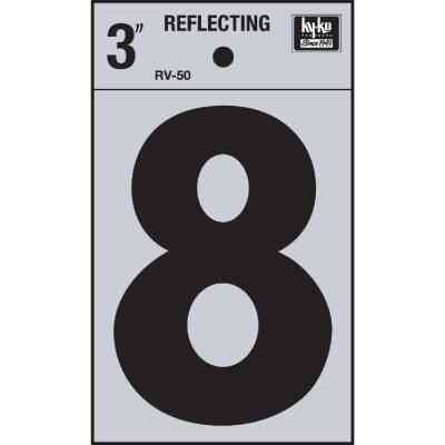 Hy-Ko Vinyl 3 In. Reflective Adhesive Number Eight