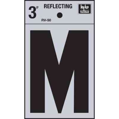 Hy-Ko Vinyl 3 In. Reflective Adhesive Letter, M