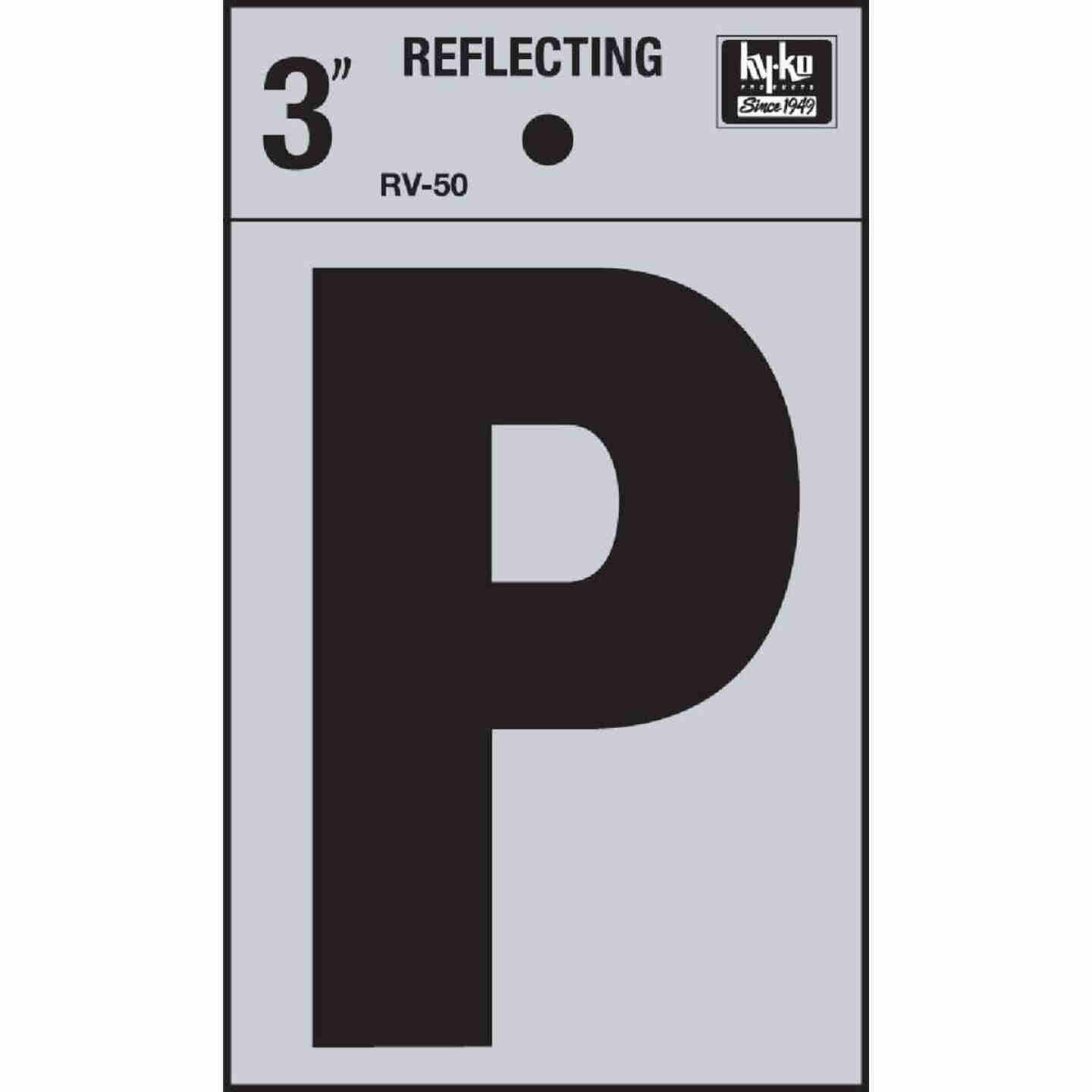Hy-Ko Vinyl 3 In. Reflective Adhesive Letter, P Image 1