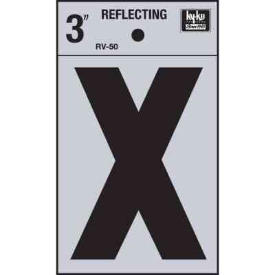 Hy-Ko Vinyl 3 In. Reflective Adhesive Letter, X