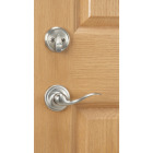 Kwikset Signature Series Chelsea Satin Nickel Entry Door Handleset with Smartkey & Tustin Lever Image 3