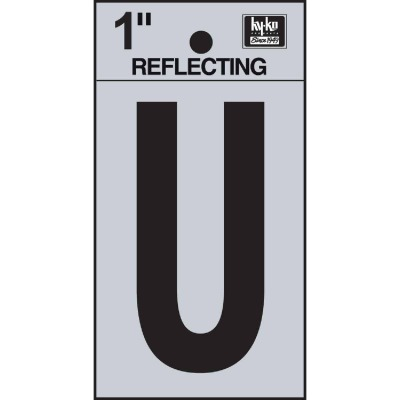 Hy-Ko Vinyl 1 In. Reflective Adhesive Letter, U