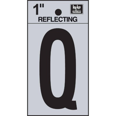 Hy-Ko Vinyl 1 In. Reflective Adhesive Letter, Q
