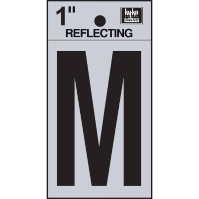 Hy-Ko Vinyl 1 In. Reflective Adhesive Letter, M