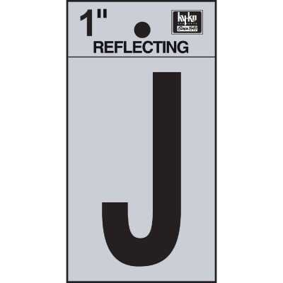 Hy-Ko Vinyl 1 In. Reflective Adhesive Letter, J