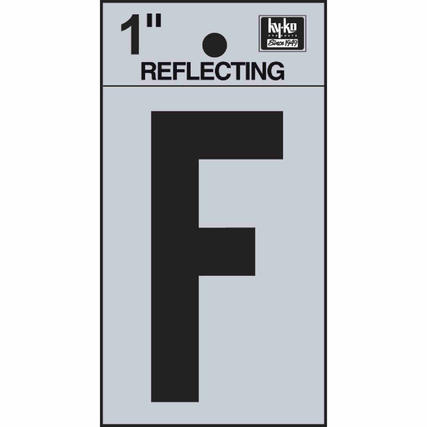 Hy-Ko Vinyl 1 In. Reflective Adhesive Letter, F Image 1