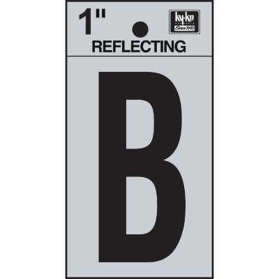 Hy-Ko Vinyl 1 In. Reflective Adhesive Letter, B