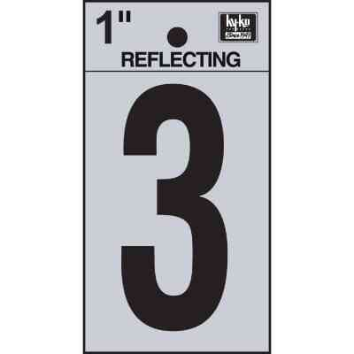 Hy-Ko Vinyl 1 In. Reflective Adhesive Number Three