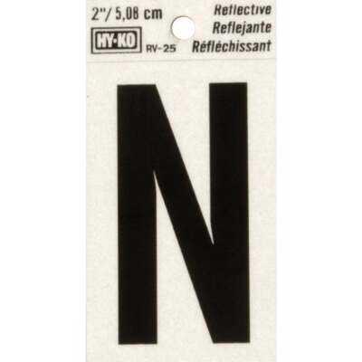 Hy-Ko Vinyl 2 In. Reflective Adhesive Letter, N