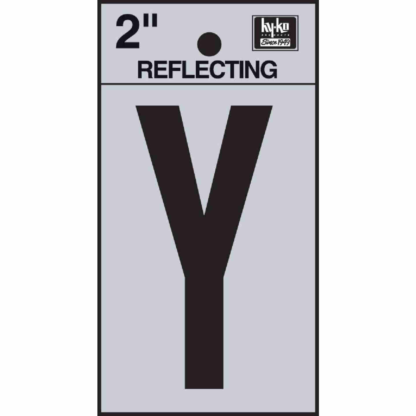Hy-Ko Vinyl 2 In. Reflective Adhesive Letter, Y Image 1