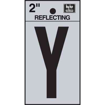 Hy-Ko Vinyl 2 In. Reflective Adhesive Letter, Y