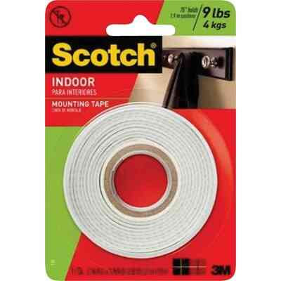 3M Scotch 1/2 In. x 80 In. White Indoor Double-Sided Mounting Tape (9 Lb. Capacity)