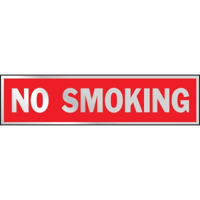 Hy-Ko Brushed Aluminum Sign, No Smoking