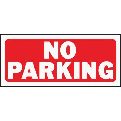 Hy-Ko Plastic Sign, No Parking