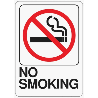 Hy-Ko Deco Series Heavy-Duty Plastic Sign, No Smoking