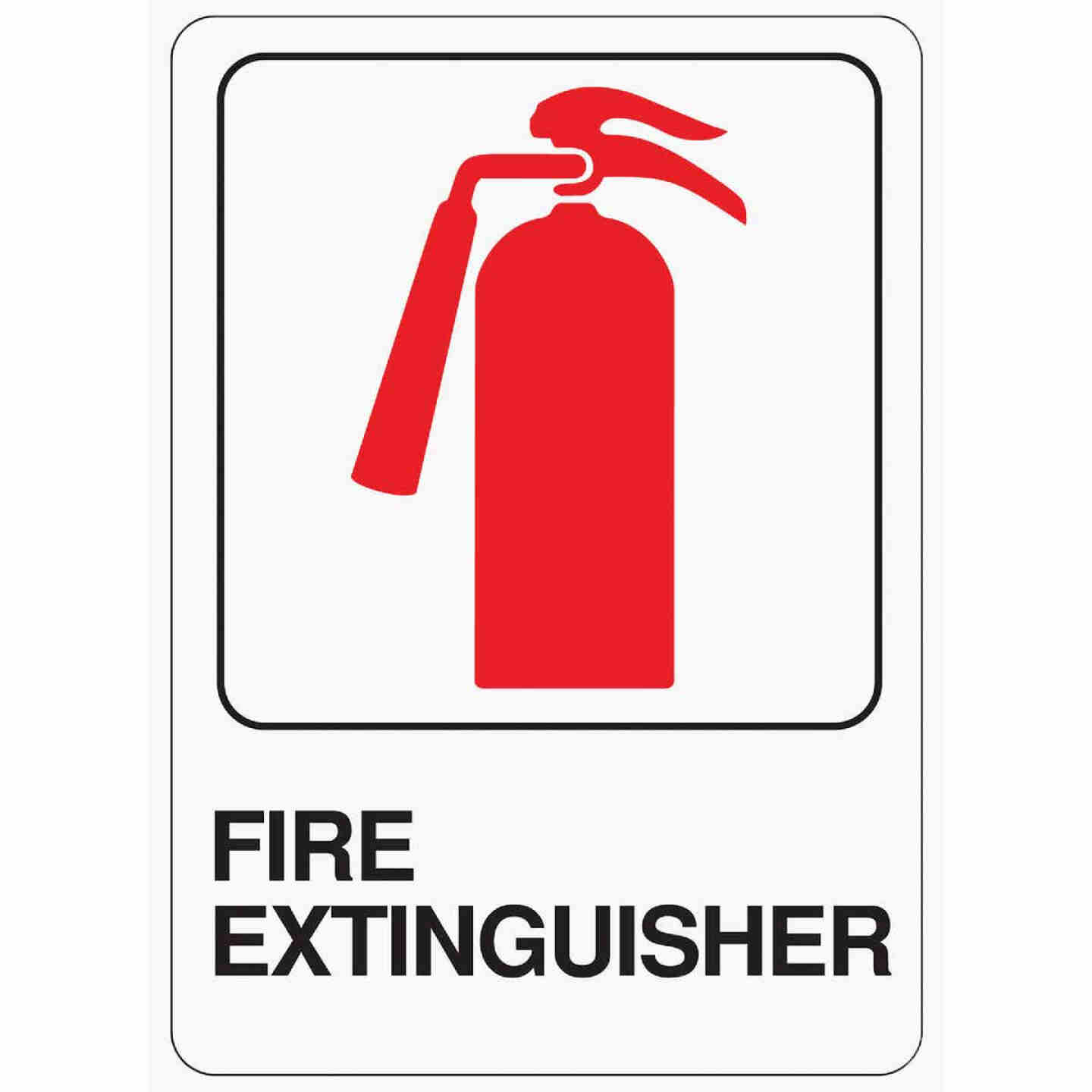 Hy-Ko Deco Series Heavy-Duty Plastic Sign, Fire Extinguisher Image 1