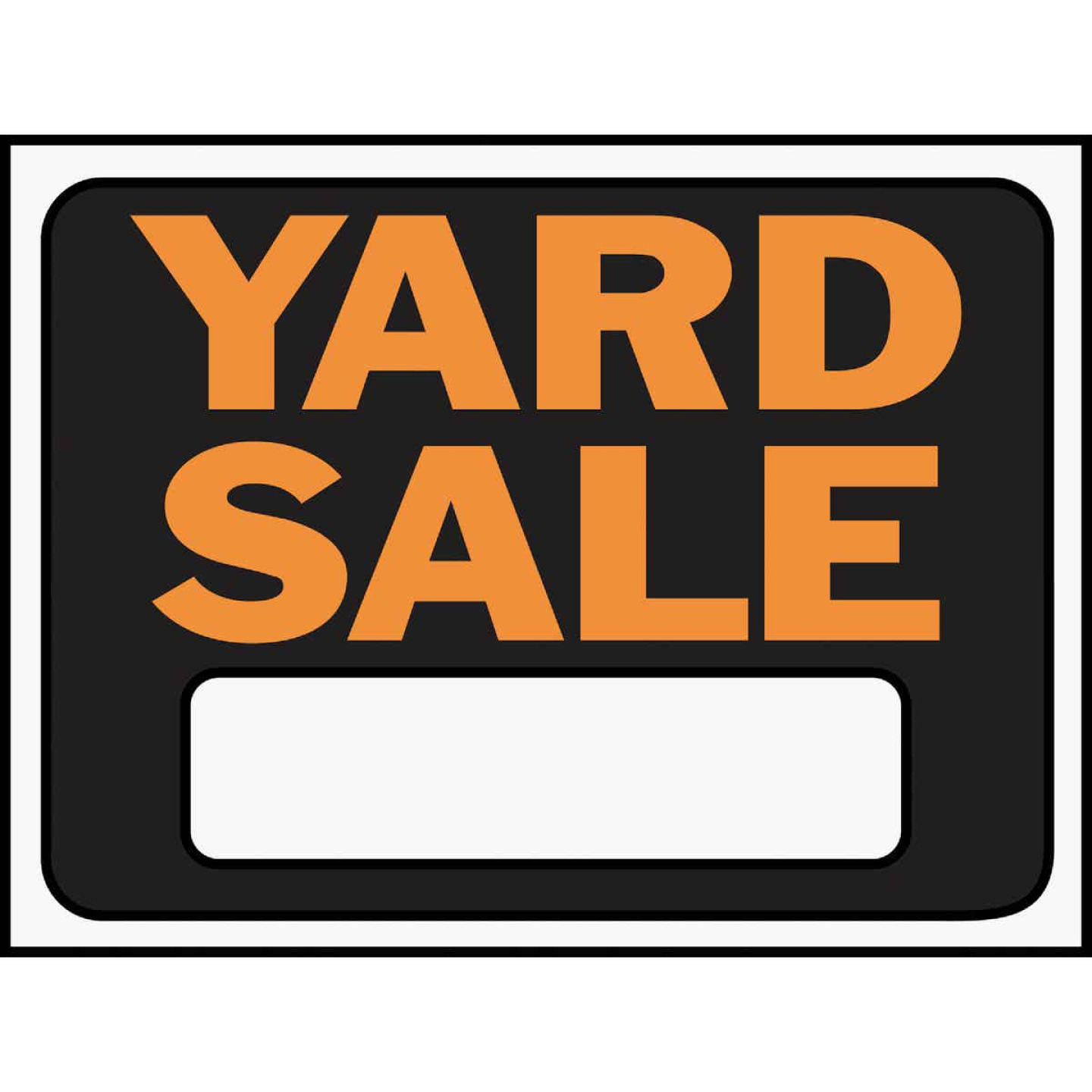 Hy-Ko Plastic Sign, Yard Sale Image 1