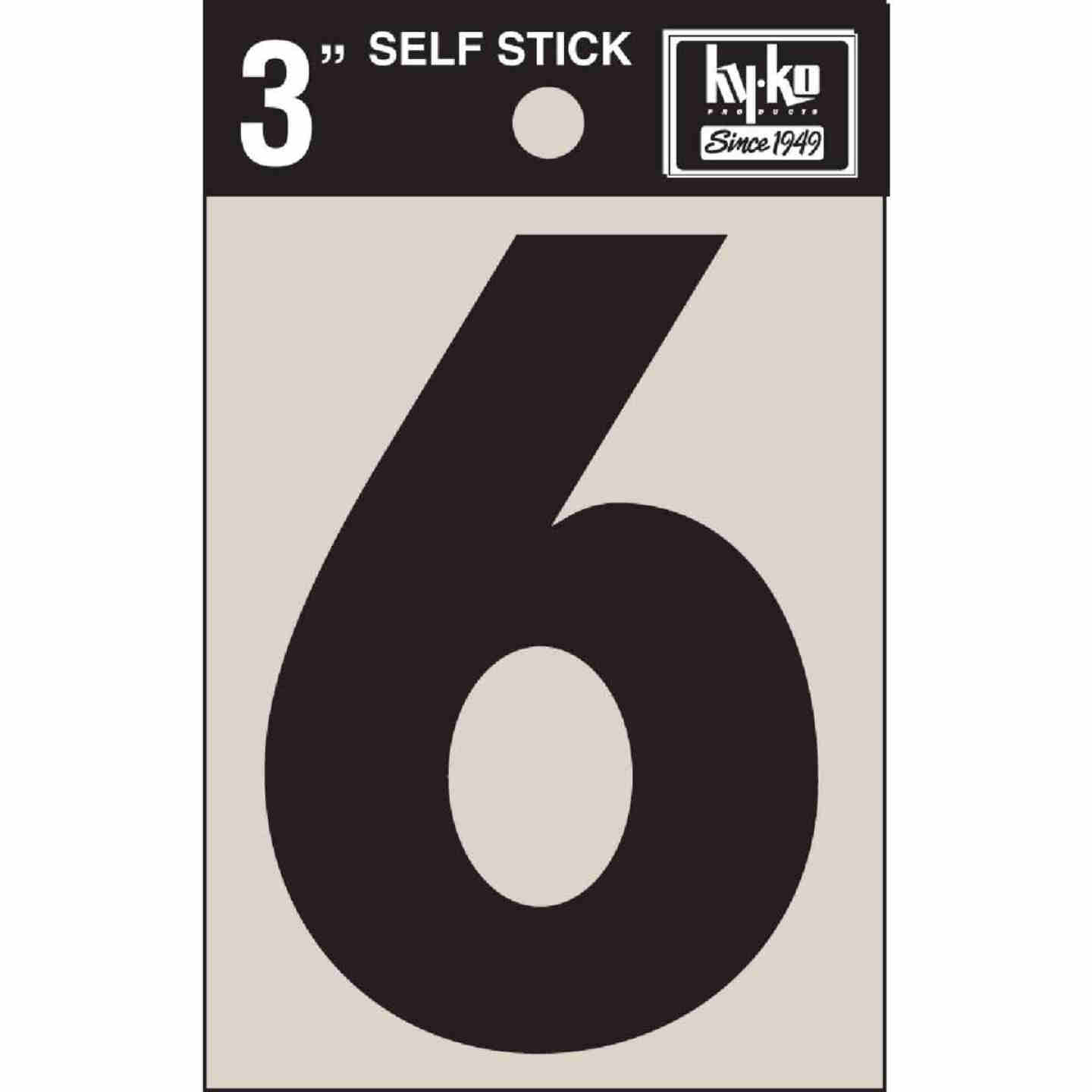 Hy-Ko Vinyl 3 In. Non-Reflective Adhesive Number Six Image 1