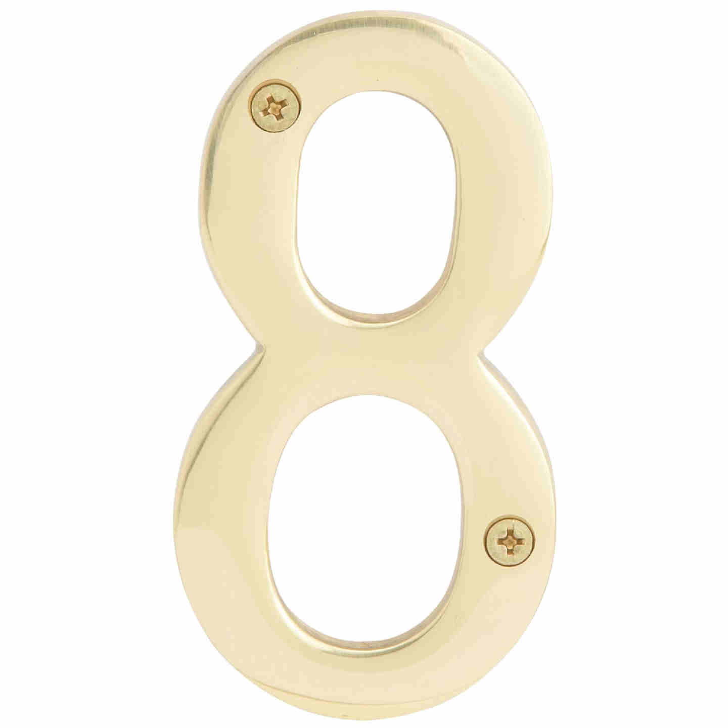 Hy-Ko 4 In. Polished Brass House Number Eight Image 1