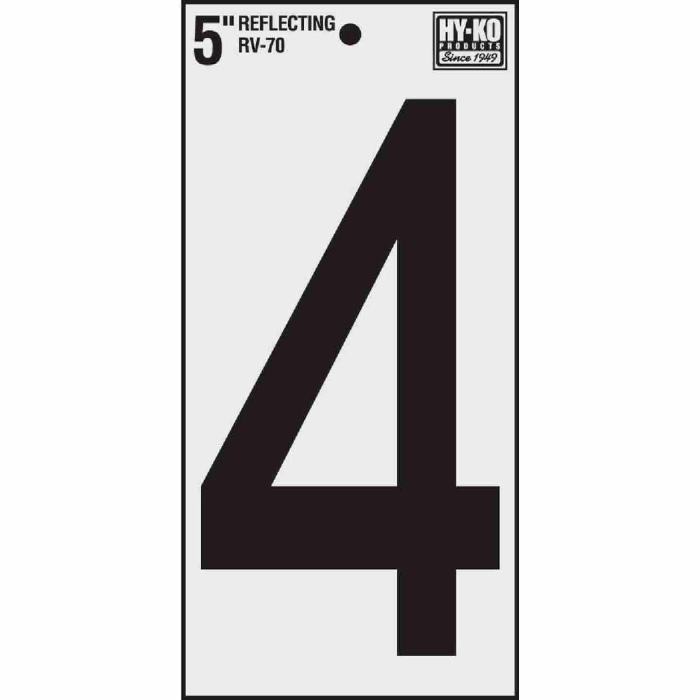 Hy-Ko Vinyl 5 In. Reflective Adhesive Number Four Image 1