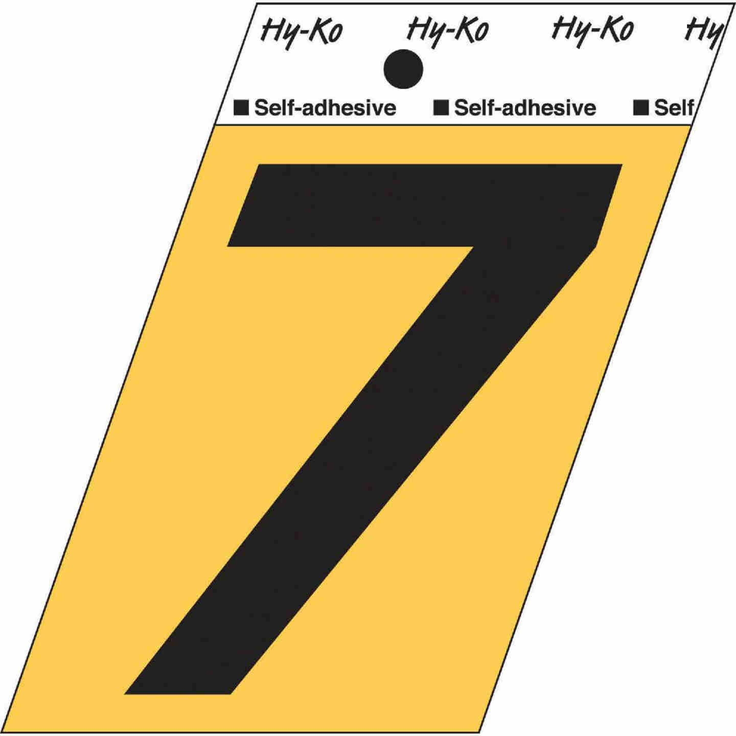 Hy-Ko Aluminum 3-1/2 In. Non-Reflective Adhesive Number Seven Image 1