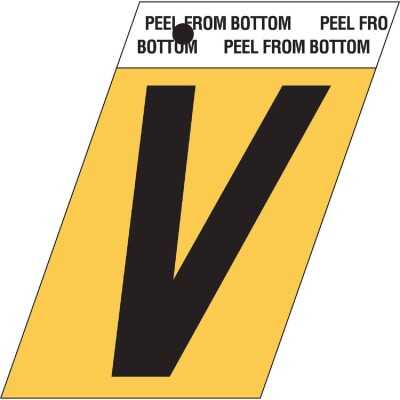 Hy-Ko Aluminum 1.5 In. Self-Adhesive Letter, V