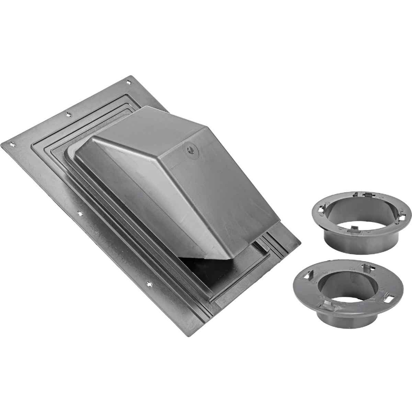 Lambro 3 In. or 4 In. Black Plastic Roof Vent Cap for Bath Exhaust Fan Image 1