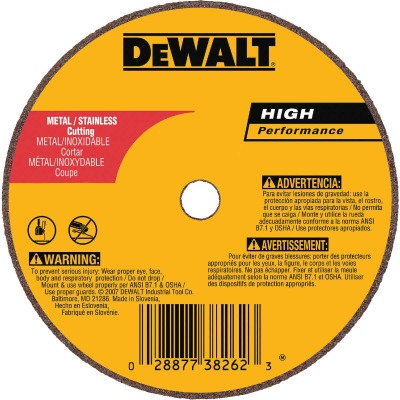 DeWalt HP Type 1 4 In. x 0.035 In. x 5/8 In. Metal/Stainless Cut-Off Wheel