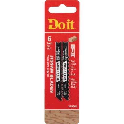 Do it Best U-Shank 3 In. x 6 TPI High Carbon Steel Jig Saw Blade, Wood up to 1 In. (2-Pack)