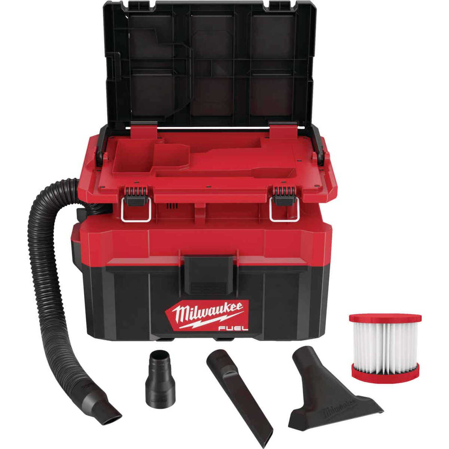 Milwaukee M18 FUEL 18 Volt Lithium-Ion Brushless 2.5 Gal. PACKOUT Wet/Dry Vacuum (Bare Tool) Image 2