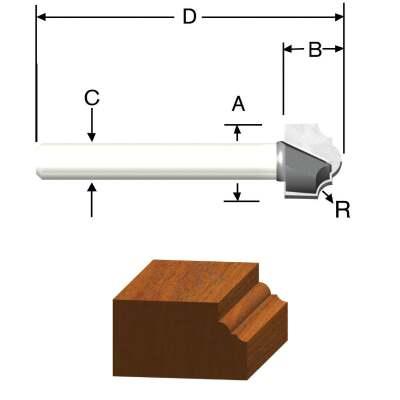 Vermont American Carbide Tip 3/32 In. Classical Bit