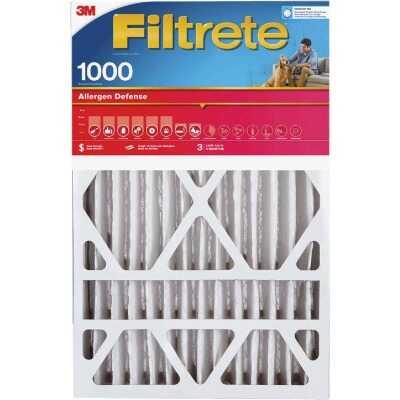 3M Filtrete 20 In. x 20 In. x 1 In. Allergen Defense 1000/1085 MPR Furnace Filter (2-Pack)