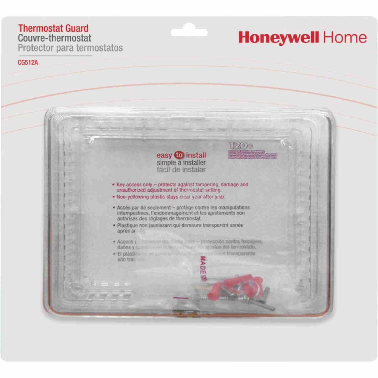 Honeywell Home Clear 9-3/4 In. 7-1/4 In. Thermostat Guard Image 1