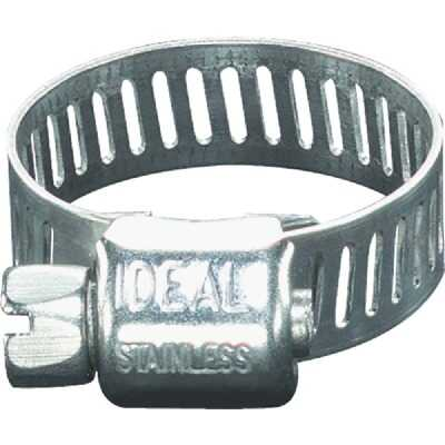 Ideal 5/16 In. - 7/8 In. Stainless Steel Micro-Gear Hose Clamp w/Zinc-Plated Carbon Steel Screw