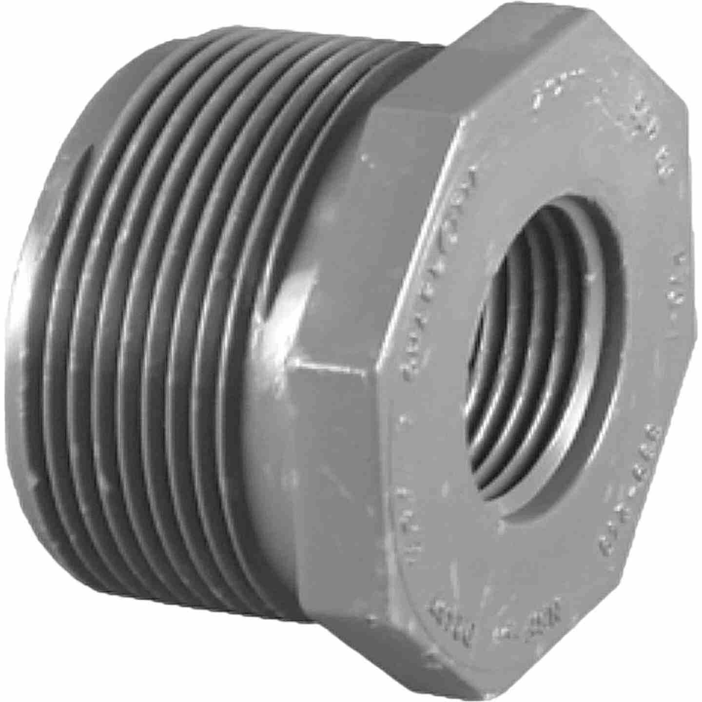 Charlotte Pipe 1-1/4 In. MPT x 3/4 In. FPT Schedule 80 Reducing PVC Bushing Image 1