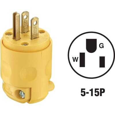 Do it 15A 125V 3-Wire 2-Pole Residential Grade Cord Plug