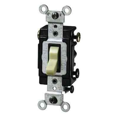 Leviton Toggle Ivory 15A Lighted Quiet 3-Way Switch