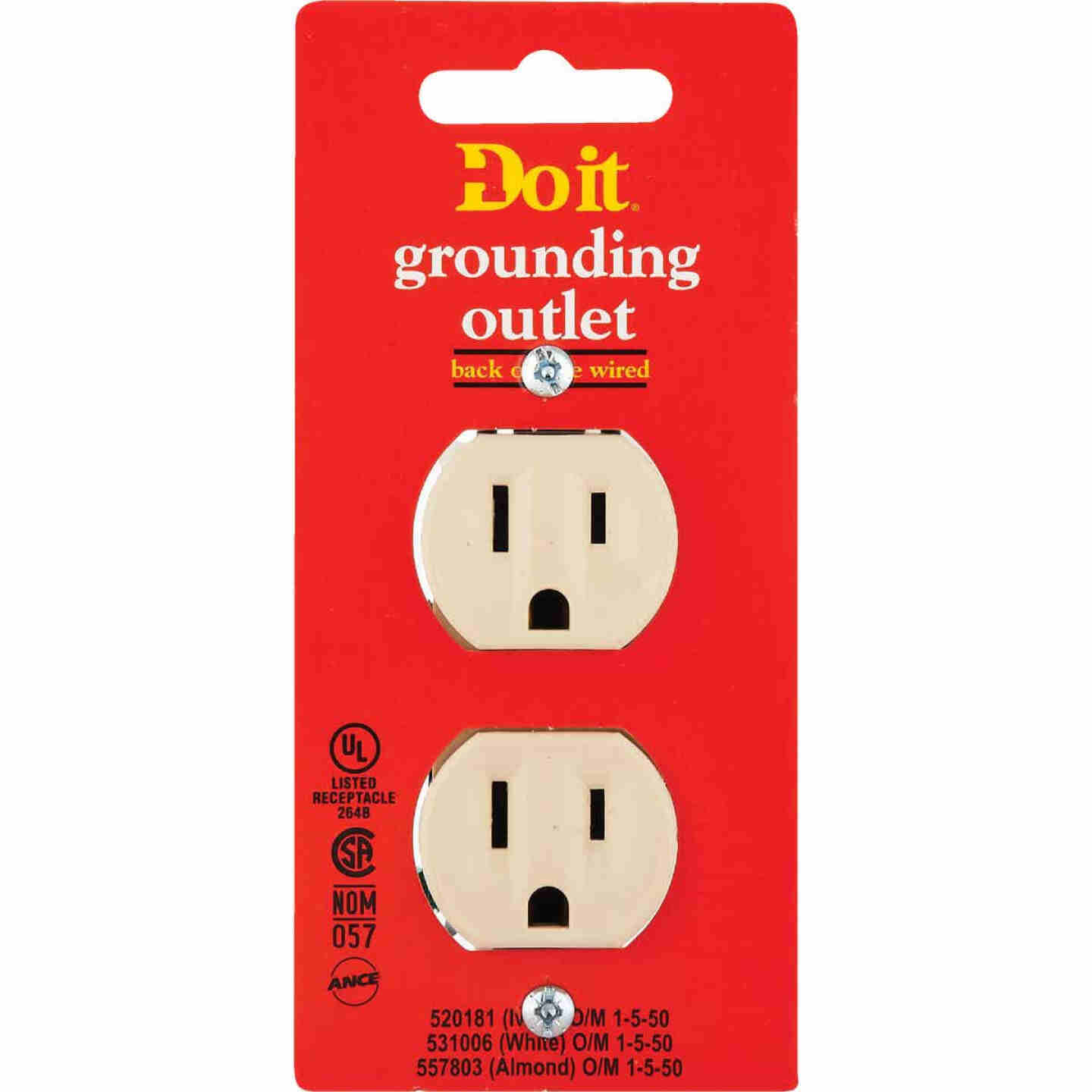 Do it 15A Ivory Residential Grade 5-15R Duplex Outlet Image 2