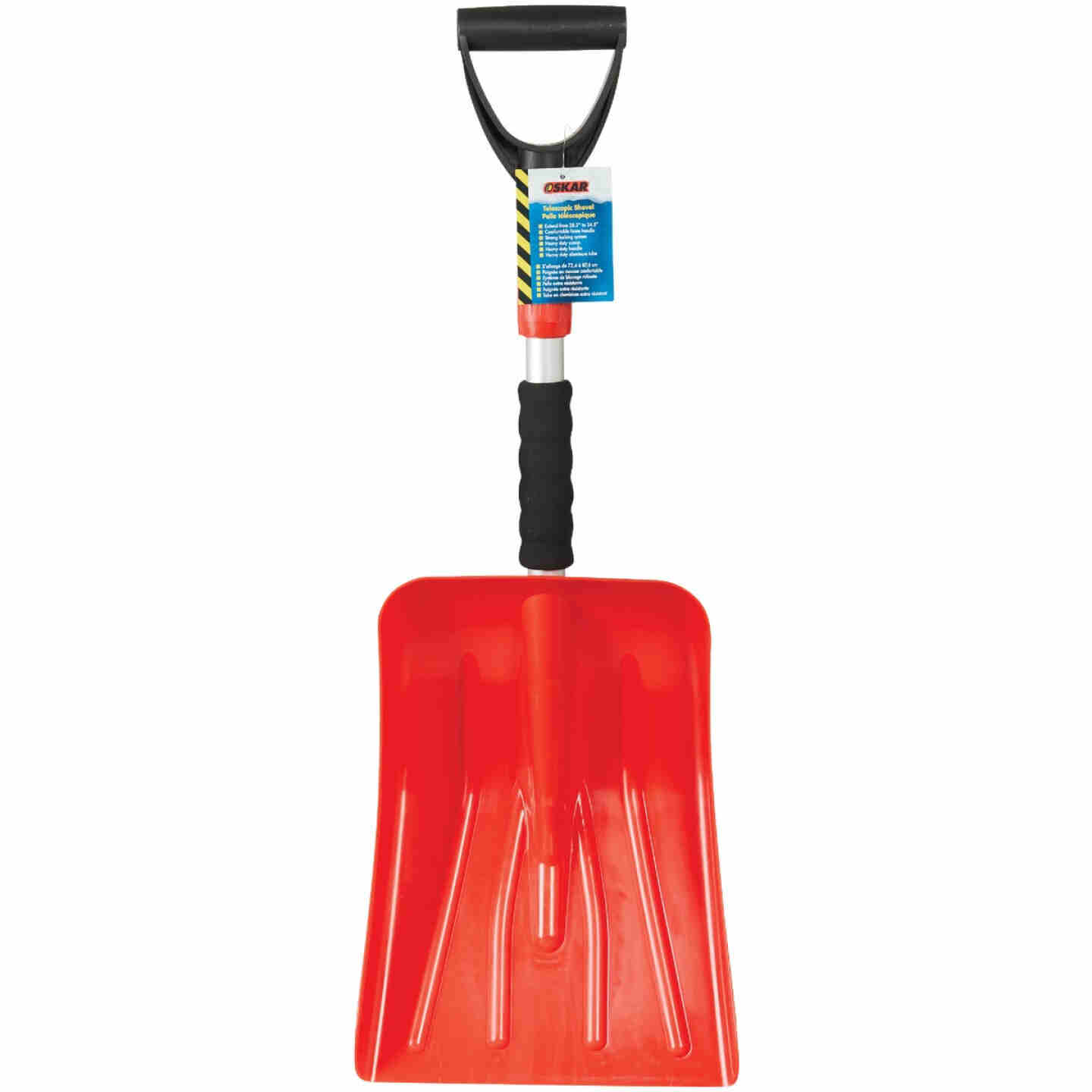 Oskar 9-1/2 In. Poly Emergency Automotive Snow Shovel with Extendable Steel Handle Image 2