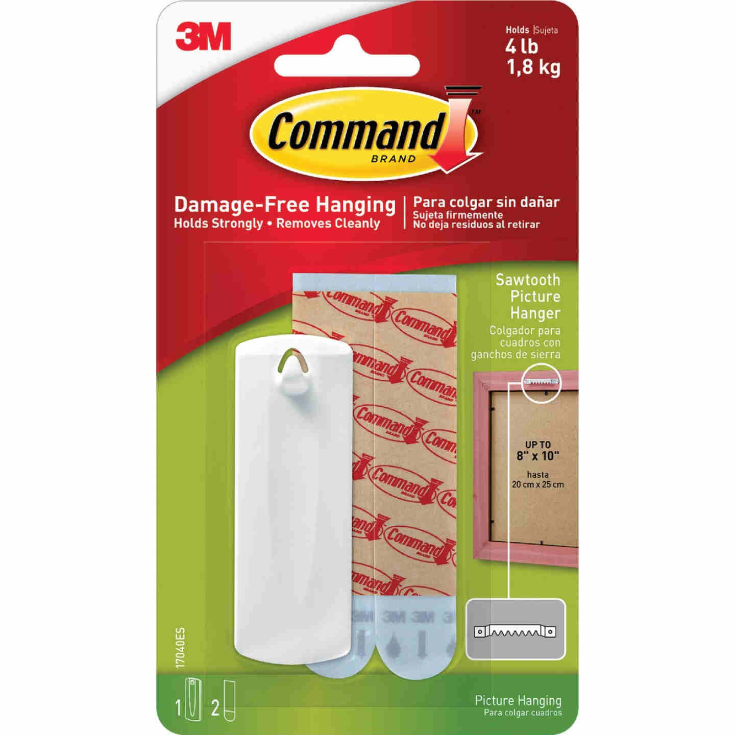 Command Sawtooth Adhesive Picture Hanger Image 2