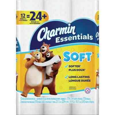 Charmin Essentials Soft Toilet Paper (12 Double Rolls)