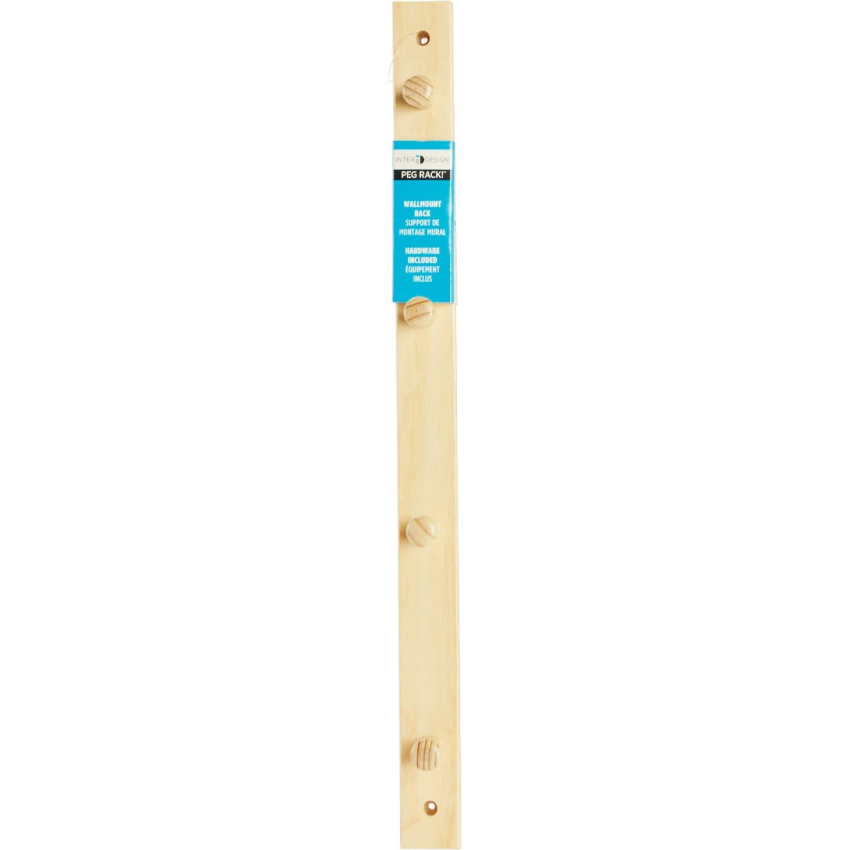 Interdesign Natural Wood 4-Peg Rack Image 2