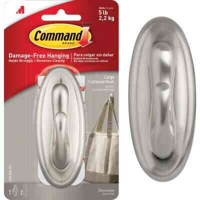 3M Command Large Metallic Traditional Adhesive Hook