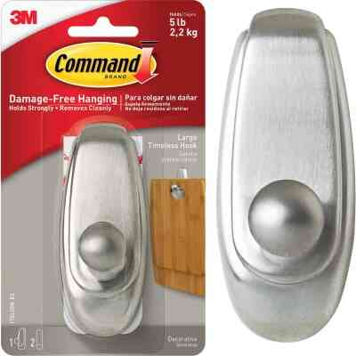 3M Command Large Metallic Timeless Adhesive Hook