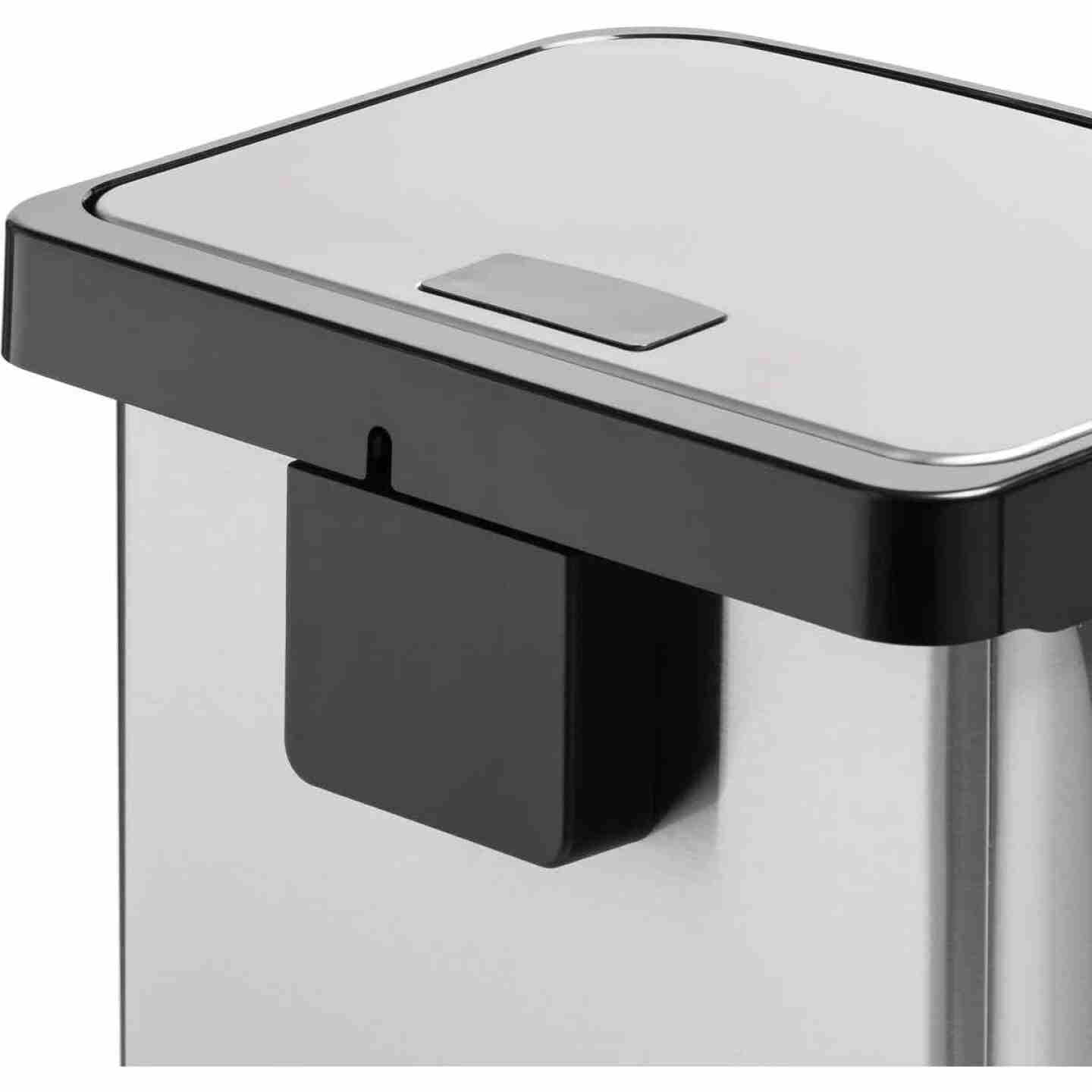 Honey Can Do 50L Stainless Steel Wastebasket Image 6